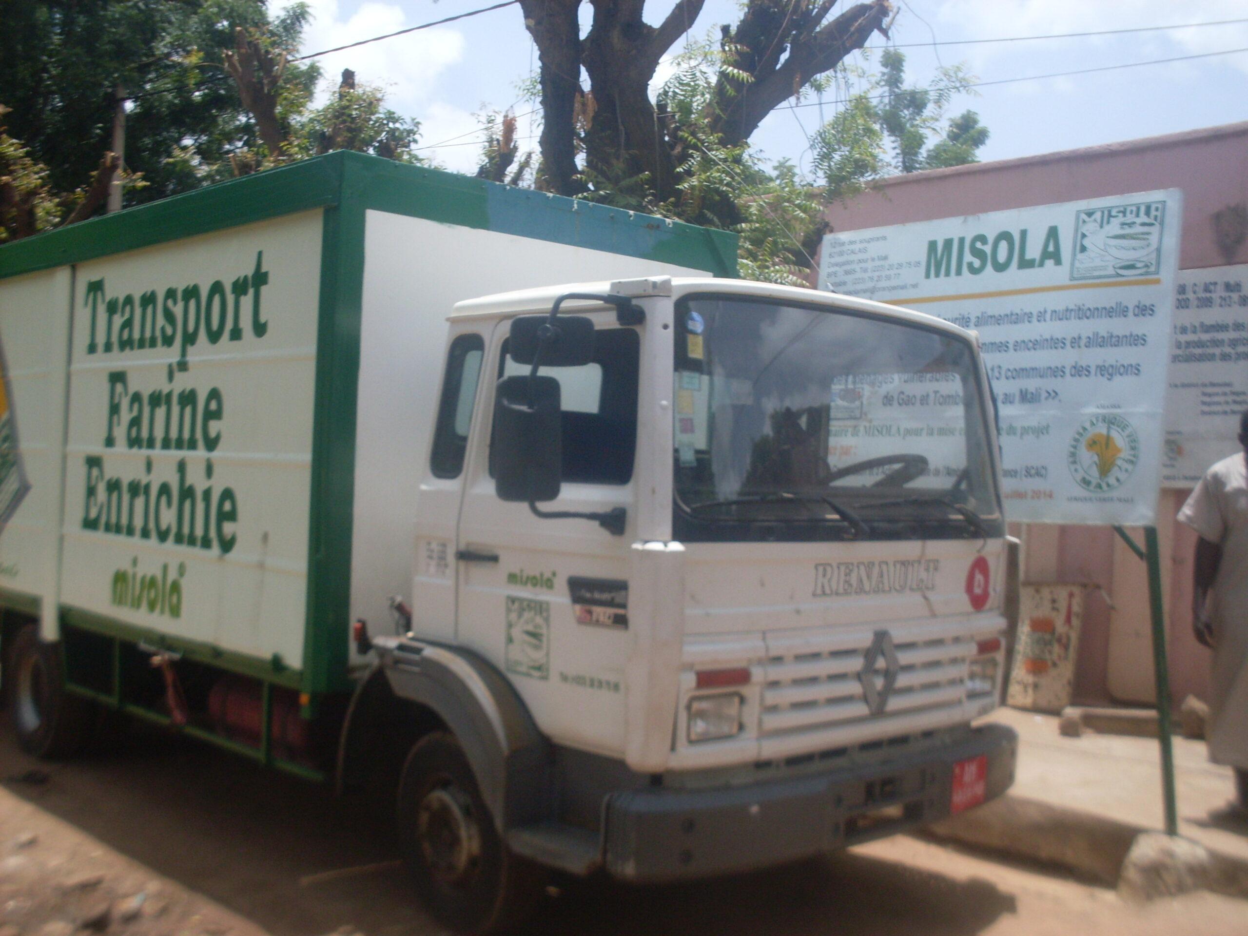 véhicule de livraison Misola au Mali